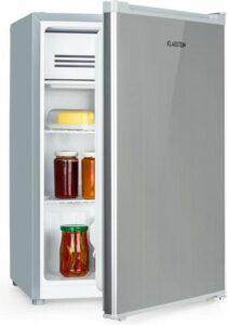 Klarstein Delaware koelkast A++ 76 liter 4 liter-vriesvak zilver-grijs
