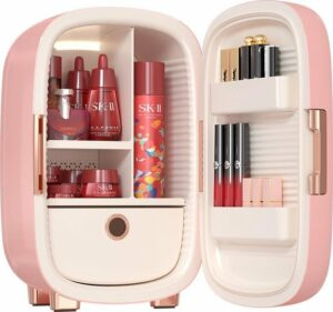 Knikker® Skincare Beauty Fridge - Make up Koelkast & Organizer - 12L - Roze