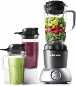 NutriBullet Select 2.0 - 10-delig - 1000 Watt - Blender - To Go Drinkbekers - Warme en Koude Bereidingen - Grijs
