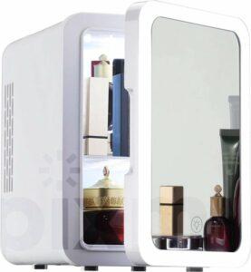 PIXMY ® - Skincare Fridge - 4L Inhoud - Mini Koelkast - Met Spiegel En Ledverlichting - Skincare Koelkast - Make Up Koelkast - PISCF21LED