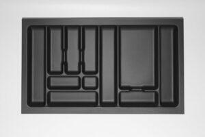 Culinorm Storex Bestekbak - 84 cm breed x 49 cm diep - Carbon Black