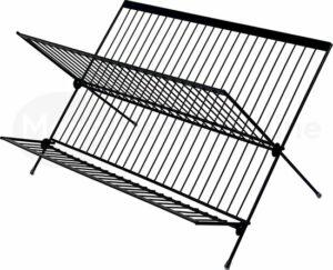 Inklapbaar Afdruiprek - RVS Afwasrek - Vaatwasrek - Keukenrek - RVS - Zwart