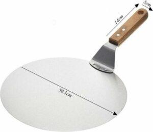 Luxe Pizzaschep Voor Verse Pizza - RVS 30CM - Grote Pizza Schep Voor Oven Of BBQ - Hout Handvat - Pizzaspatel Voor Zelfgemaakte Ovenpizza