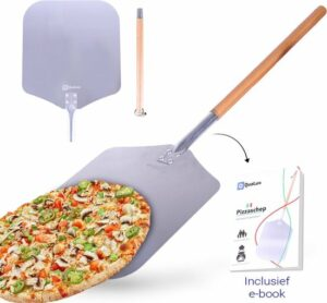 Qualux pizzaschep tweedelig - Pizza schep ophangbaar - Taartschep metaal - Pizza - Ontkoppelbaar