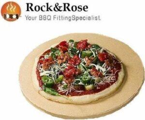 Rock&Rose Luxe Pizzasteen - Keramiek - 35cm - 14 inch - BBQ Steen - Oven Steen - Pizza Stone - bakplaat