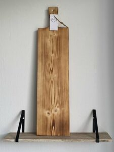 88Wood Borrelplank - 80cm - Gebrand