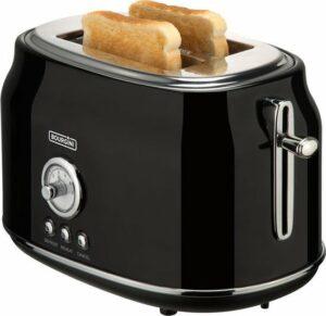 Bourgini 148001 - Retro Toaster - Zwart