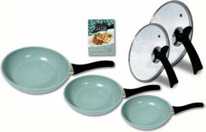 pannenset inductie - Jade pannenset 5-delig - koekenpannenset - pannensets