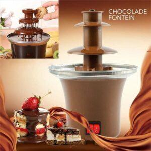 3 laags Chocoladefontein Mini Hot Chocolate Fondue Pot Elektrische Smeltmachine