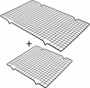 Bredson Taartrooster - 2 Stuks - Afkoelrooster - (1) 40 x 25 cm + (1) 28 x 25 cm