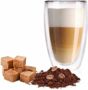 Dubbelwandige Glazen - Set van 2 Stuks - Dubbelwandige Cappuccino - Latte Macchiato Glazen 450ml
