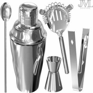 JML Premium Cocktailshaker Set – Design RVS Cocktail set – Cocktail Shaker Set