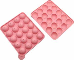 Leccur Siliconen Bakvorm - Cake Pop Maker - Cakepops Vorm - 20 Vormpjes