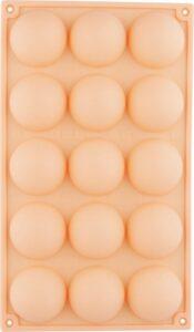 Leccur Siliconen Bakvormen Halve Bollen - Cakevorm Mallen Rond - 15 Vormpjes - Ø 5 cm