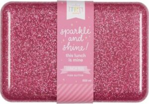 Lunch box Glitter - roze - A Little Lovely Company