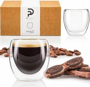 Luxe Dubbelwandige Espresso Kopjes - Espresso Glazen - Koffieglazen - Espressokopjes - Koffie Glazen - 80 ML
