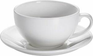 Maxwell & Williams White Basics Round - Cappuccino Kop en Schotel - 310 ml