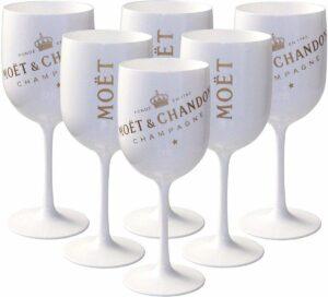 Moët & Chandon ice champagneglazen - Acryl - 6 stuks - Wit