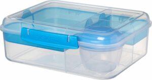 Sistema To Go Bento Box brooddoos - 4 compart. & yoghurtpotje blauw - 1.65L