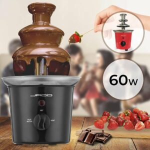 Trend24 - Chocolade fontein - Chocolade fondue - Chocoladefontein - Chocoladefondue - Smeltchocolade - Fondue - RVS - 60 Watt - Zwart