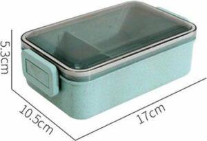 WiseGoods - Lunchbox - Lunchdoos - Voedsel Container - Thermische Lunchbox - Bento Box - Broodtrommel - Koken & Bakken - Blauw