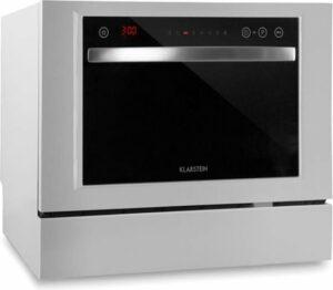 Klarstein Amazonia 6 Luminance - mini-afwasmachine met stijlvol glazen front - wit