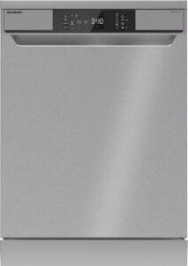 Sharp QWNA1BF47ESEU-vaatwasser-vrijstaand-zilver