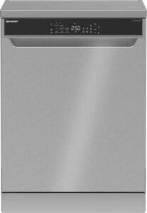Sharp QWNA26F39DIDE-vaatwasser-vrijstaand-zeer stil 39dB-zilver